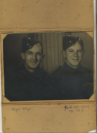 Portrait of the Atfield brothers, Alfred James Royce at left and William Henry Jack Atfield at right.