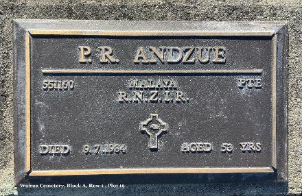 Plaque at Wairoa Cemetery