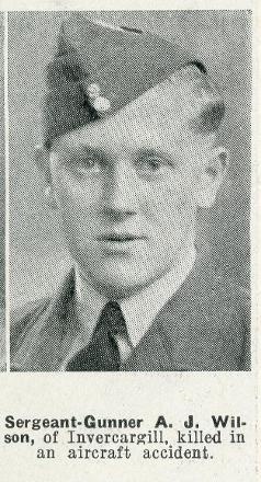 Sergeant Gunner A J Wilson - of Invercargill