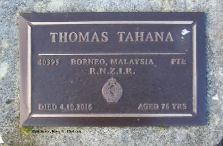 Plaque at Manukau Memorial Gardens