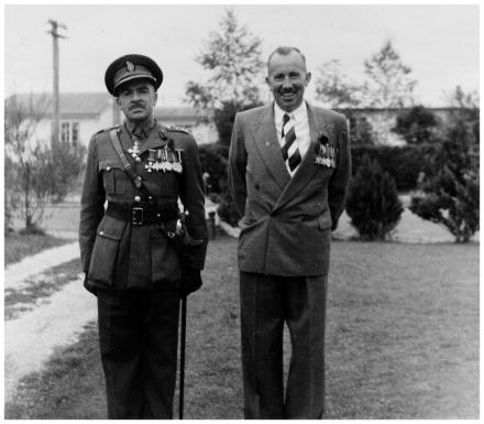 Brigadier A.B.Bullen on the left (took the parade) with his brother E.S.Bullen