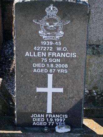 Allen Francis Headstone