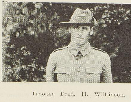 Trooper Fred H. Wilkinson.