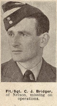Flight-Sergeant C J Bridger - of Nelson.
