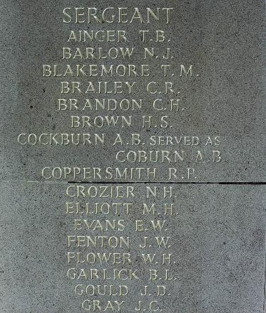 Clifton's name is inscribed inside Runnymede Memorial.