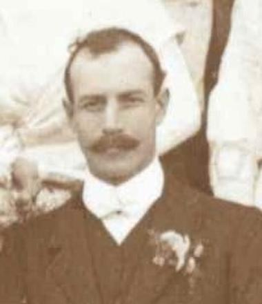 Norman Hill Browne  from his wedding photo in Rotorua 1910