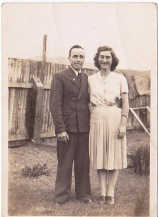 Ralph and his wife Flora after the war.