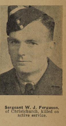 Sergeant W J Ferguson - of Christchurch.