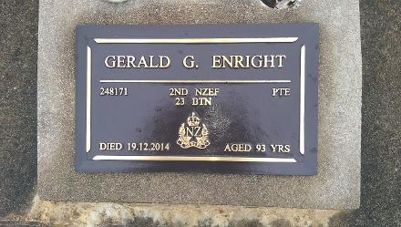 Dad's plaque in the Returned Services Section,  Green Island Cemetry