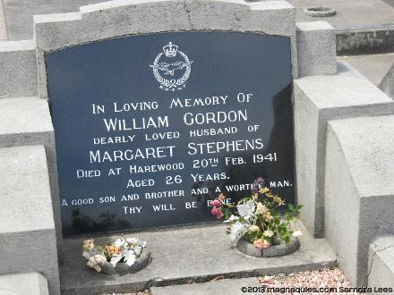 Grave of William Gordon STEPHENS Bromley Cemetery, corner of Keighleys and Linwood Avenue, Christchurch, New Zealand Photographed 1 January 2013