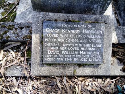 Gravestone Park Island Cemetery, Napier, Hawkes Bay, New Zealand