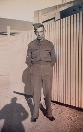 Patrick in his Army Uniform.