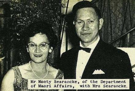 Mr Monty Searancke of the Department of Maori Affais, with Mrs Searancke