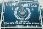 "The sign at the entrance to Dieppe Barracks, Sembawang Road, Singapore, where ""Daygo"" served his country. - No known copyright restrictions."