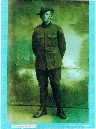 James Affleck in his Australian uniform. He was quite the trouble maker