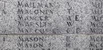 Memorial stone on the Wanganui Cenotaph, Queens Park, Wanganui - No known copyright restrictions.