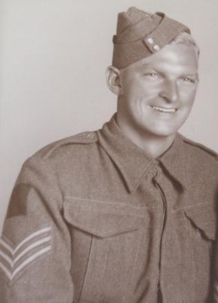 Taken in studio prior to departing for Egypt in 1942