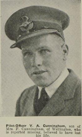 Pilot-Officer V A Cunningham - of Wellington.