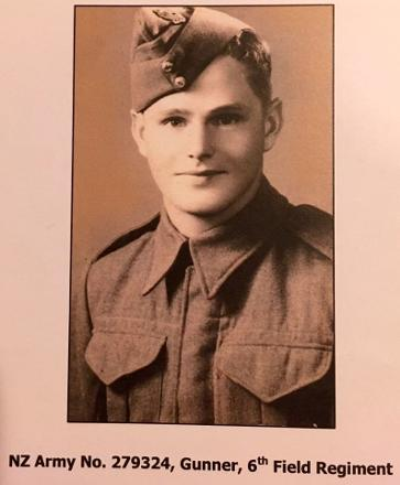 About 19 years old I think before he embarked for WW2