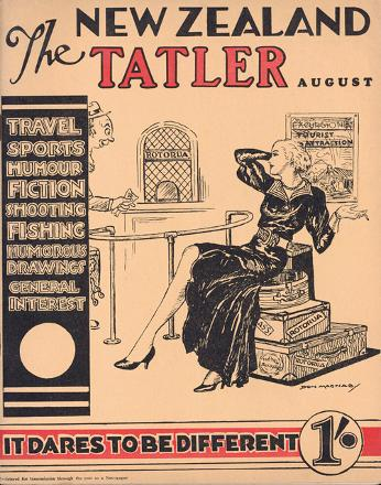 Cover of the New Zealand Tatler illustrated by Don MacNab probably in the 1930s
