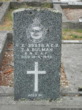 Grave of Eric BULMAN Waimairi Cemetery, 195 Grahams Road, Christchurch, New Zealand Photographed 23 February 2015 ©Sarndra Lees