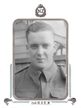Doug (Euan) in NZ and likely prior to his service with 3rd NZ Division in the Pacific, from the collection of his sister Valerie.