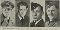 Pilot-Officer R Daniel - of Greymouth (far left)  - No known copyright restrictions.
