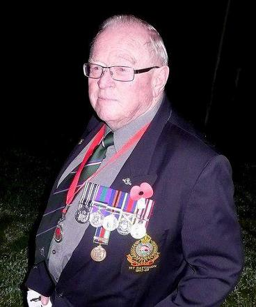 Taken at Mahia R.S.A. Dawn Parade a few years before he died.