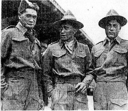 Privates A. Herewini, of Pipiwai, T. Heka, D.C.M., of Te Kao, and W. H. Davis, of Motukaraka, three members of the Maori . battalion who also returned yesterday