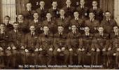 Pilot Officer I.V.M Field and his fellow RNZAF trainees at Woodbourne, Blenheim, Marlborough, New Zealand. - No known copyright restrictions.