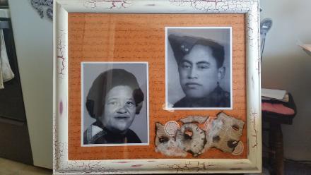 I did this custom made picture/photo frame for my cousins brithday of our grandparents Tipene Tuki Te Rangi  Karikari and his wife Hiria Teoriki Karikari.