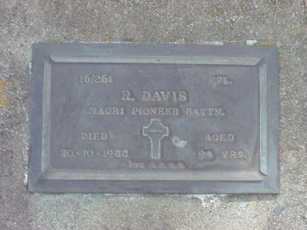 Richard Davis Headstone