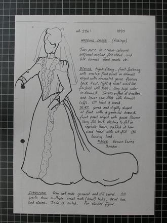 Judy Smith costume sheet