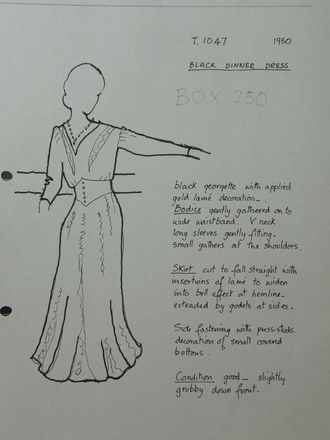 Judy Smith costume sheet