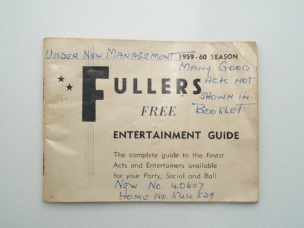 Fullers Free Entertainment Guide 1959-60 season [2007.81.5] - front view