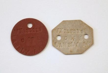 Australian ID tag, WW2 [2005x2.7] - front view