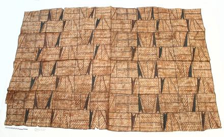 Samoan barkcloth (siapo) [2007.57.7] - front view