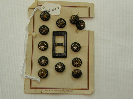 card of 12 buttons