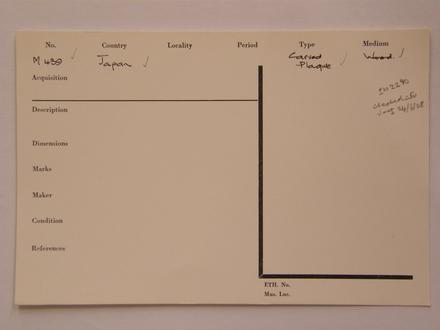 applied arts catalogue card