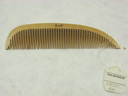 comb, wooden