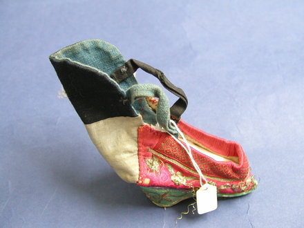 shoe, embroidered