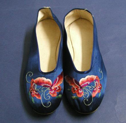 slippers, satin