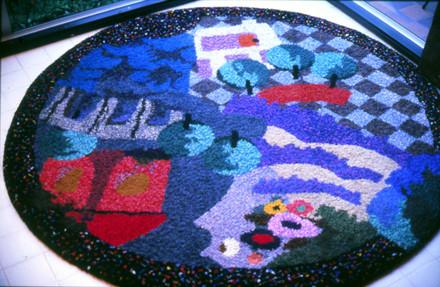 rug, floor