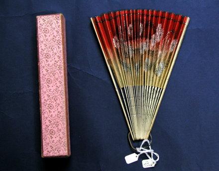 fan, paper with cardboard fan box