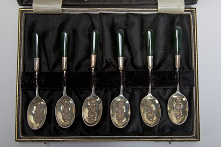 presentation silver spoons and case
