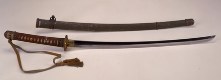 sword, samurai (and scabbard and lanyard) W1768