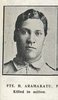 Private H. Aramakatu, killed in action. Taken from the supplement to the Auckland Weekly News 30 September 1915 p045. No known Copyright.
