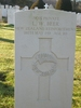 Headstone, Tidworth Military Cemetery, January 2011 - No known copyright restrictions
