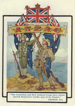 ANZAC postcard - No known copyright restrictions