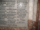 Detail of WW1 Memorial, St Andrew's, Cullompton, showing the entry for Joseph Coleman (photo kindly provided by the Church Warden, 2013) - No known copyright restrictions